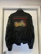 Bmw Art Of The Motorcycle Black Wool And Leather Guggenheim Museum Jacket Large