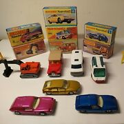 Lesney Matchbox Superfast Lot Of 7 Very Nice Cond Cars /nice Orig.boxes Look👀💥