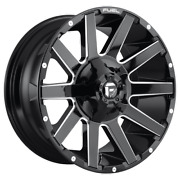 20 Inch Black Wheels Rims Ford F350 Superduty Fuel Offroad D615 Contra 20x9 New