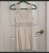Free People Daisy Lace Off White Sleeveless Party Summer Beach Dress Size 2