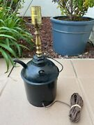 Vintage Antique Southern Pacific Co. Railroad Eagle Oil Can Lamp