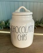 Rae Dunn By Magenta Chocolate Chips 6.5 Baby Canister Vhtf Basic Expert Shipper