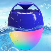 Portable Bluetooth Pool Speaker,hot Tub Speaker With Colorful Lights