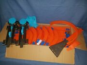 Huge Lot Of Hot Wheels Track And Connectors Over 200 Feet 98 24 Straight And More