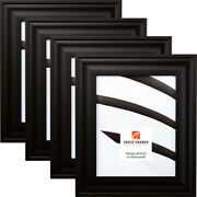 Craig Frames Contemporary Upscale, 2 Inch Satin Mica Black Picture Frame 4-pack