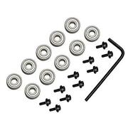 Yakamoz 10pcs Router Bits Top Mounted Ball Bearings Guide For Router Bit Bearing