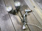 Vintage Fako Bike Bicycle Double Lamp Light Alloy Dynamo Used Untested