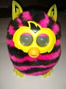 Furby Boom 2013 - Pink And Black Stripes Pattern, Tested Working Hasbro