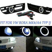 Fog Light Led Front Bumper Grille Grill Drl Lamp For Vw Jetta Bora Mk4 A4 Typ 1j