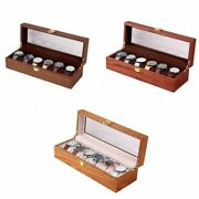 1pc Wooden Watch Storage Box 2/3/6 Grids Retro Watches Case Holder Jewelry Boxes