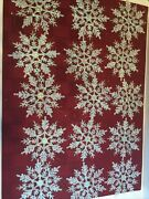 """15 Glitter Snowflakes Christmas Tree Ornaments Clear Frosted Holiday Frozen 4"""""""