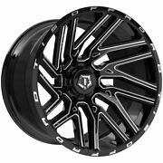 Tis 554bm 20x10 8x170 Et-19 Gloss Blk/ Milled Spoke Accents And Logo Qty Of 4