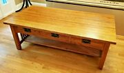 Michaels Mission-style Red Oak Coffee Table