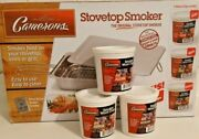Cameron's Stainless Steel Stovetop Smoker With Apple, Hickory, And Alder Chips