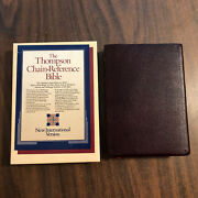 Niv 1984 Thompson Chain Reference Bible - Burgundy Bonded Leather - Oop 84