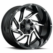 20 Inch 20x12 Vision Offroad Prowler Machined Wheels Rims 6x135 -51