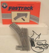 Lionel 6-12045 O O36 Left Hand Remote-control Fastrack Curved Switch Turnout Ex
