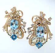 Levian Crazy Collectionandreg Topaz And Quartz 14k Strawberry Gold Large Earrings
