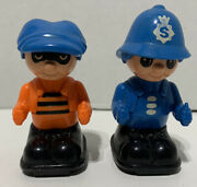 Matchbox 1978 Lesney 70s Rare Lot Cop And Robber Figures Plastic Ball Bearing Ss