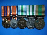 South Africa Sadf Military Medals Group Of 5