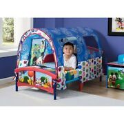 Mickey Mouse Toddler Bed With Tent Plastic Kids Bedroom Boys Room Furniture