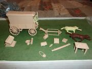 Marx Battle Of The Little Big Horn Playset 1972 Supply Wagon Complete Look