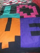 2 Unfinished Quilt Tops One Spells Love 40 X 54 2nd Patchwork 24 X 39