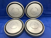 Vintage Set Of 4 1970andrsquos Ford Truck 10 1/2andrdquo Dog Dish Hubcaps Good Condition