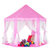 25pcs Kids Princess Playhouse Pink Fairy Castle Play Tent Outdoor Indoor Child