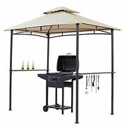 Starecho Soft Top Barbecue Grill Gazebo, Outdoor Canopy Grill Double Tired, Gaze