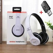 Wireless Stereo Bass Headphones With Mic Usb Bluetooth 5.0 Adaptor For Tv Gaming