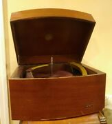 Vintage Art Deco Columbia 360 Record Player Phonograph Tube Wood Box As Is Parts