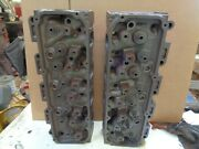 1971 Ford 351c Cleveland 4v Open Chamber Cylinder Heads, .181 And 182 ,pair