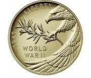 End Of World War Ii Ww2, 75th Anniversary 24-karat Gold Medal Coin In Hand