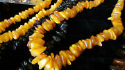 Lot 5 Giant Chunk Honey Amber Estate Butterscotch Necklace Antique Jewelry Beads