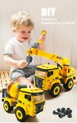 Mini Construction Toy Set Truck Excavator Bulldozer Child Screw Toys For Gifts