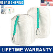1/2 Inch By 300feet Twisted Braided Nylon Anchor Rope With Thimble Boat 3 Strand