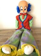 Vintage Rare Large Clown Doll Figure | Horror Toy Scary | Plastic Haunted