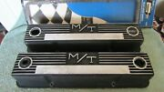 Vintage M/t Mickey Thompson Sbc Valve Covers And Gaskets 140r-50b Barn Fresh Used