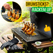 Stainless Steel Chicken Wing Leg Rack Grill Holder Rack Drip Pan For Bbq Home