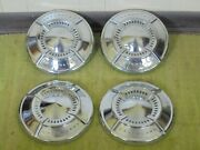61 62 Chevy Dog Dish Hubcaps 10 1/2 Set Of 4 Chevrolet 1961 1962 Poverty 409