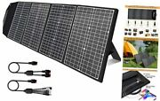 120 Watt Portable Solar Panel Charger With Kickstand, Parallel Cable, 45w Usb