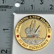 Challenge Coin Conoco Phillips Badge Police Global Security Fbi Dea Usss Atf