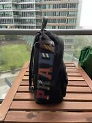 Brand New Prada Tessuto Character Logo-patch Flap-top Backpack Black With Bag