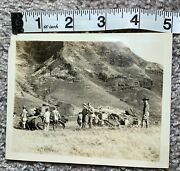 Us Wwi Wwii Hawiian Division Tank Company Photo Light M1917 Soldiers Ww1