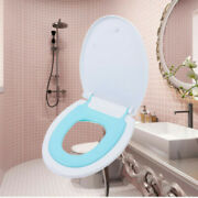 Potty Elongated Toilet Seat Adult Child V-shaped Bidets Toilet Seat Kit W/ Cover