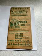 1903 Moline Plow Co Account Book Glidden Wi Cheese Factory Mrs H Krebs Mgr