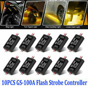 Gs-100a Flash Strobe Controller Flasher Module For Led Brake Tail Stop Light New