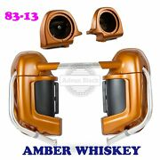 Amber Whiskey Lower Vented Fairing Fit Harley Ultra Street Electra Glide 83-13