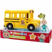 Cocomelon Musical Yellow School Bus - Wheels On The Bus Song - Toy Gift For Kids